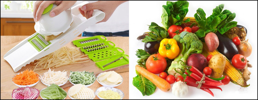 Various operations on Vegetable Slicers