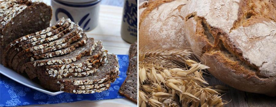 healthy dietary oat bread