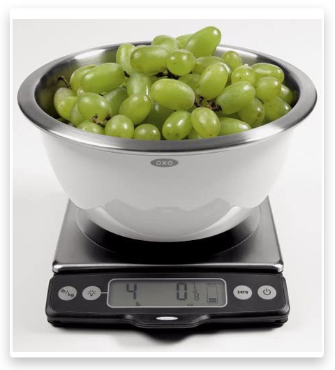OXO 1130800 Good Grips Stainless Steel Food Scale