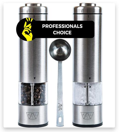 KSL Electric Salt and Pepper Grinder Set