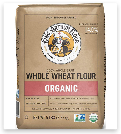 King Arthur Flour 100%s Organic Premium Whole Wheat Flour