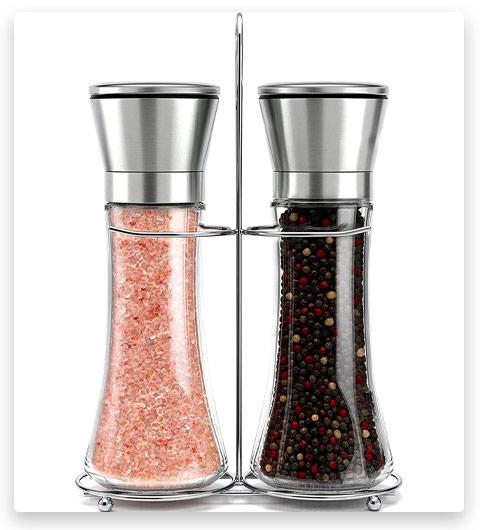 Willow & Everett Stainless Steel Salt and Pepper Grinder Set