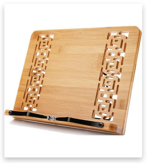 Wishacc Bamboo Book Stand