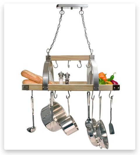 Elegant Designs Kitchen Wood Pot Rack