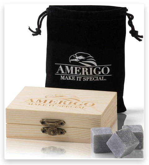 Amerigo Premium Whiskey Stones Gift Set