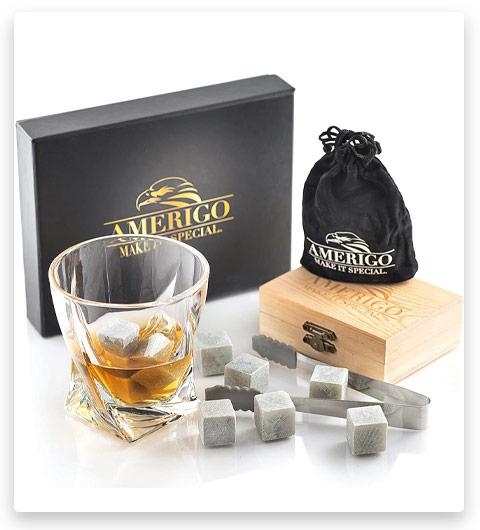 Amerigo Whiskey Stones Set Chilling