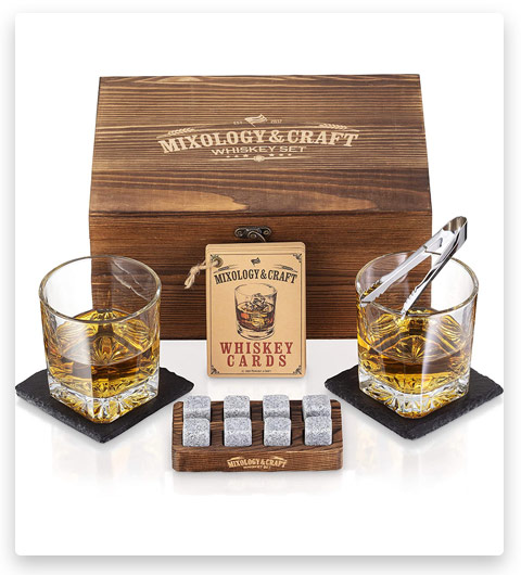 Mixology & Craft Whiskey Stones Gift Set