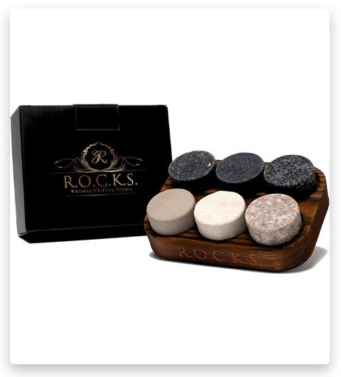 ROCKS Whiskey Chilling Stones Set