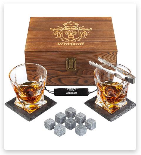 Whiskoff Whiskey Stones Glass Set