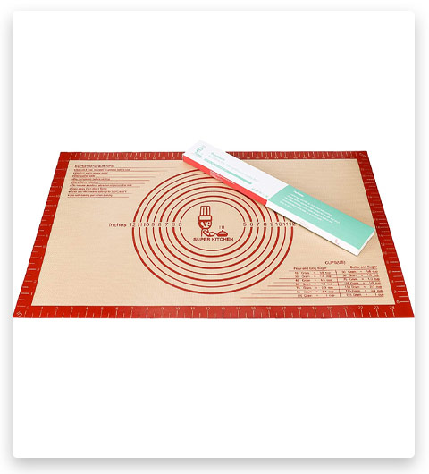 Folksy Super Kitchen Large Silicone Pastry Baking Mat