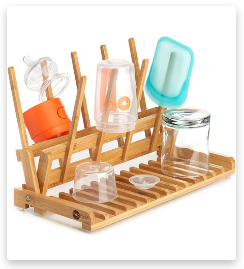 PopYum Space Saving Bamboo Drying Rack