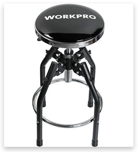 WORKPRO Heavy Duty Adjustable Hydraulic Shop Stool