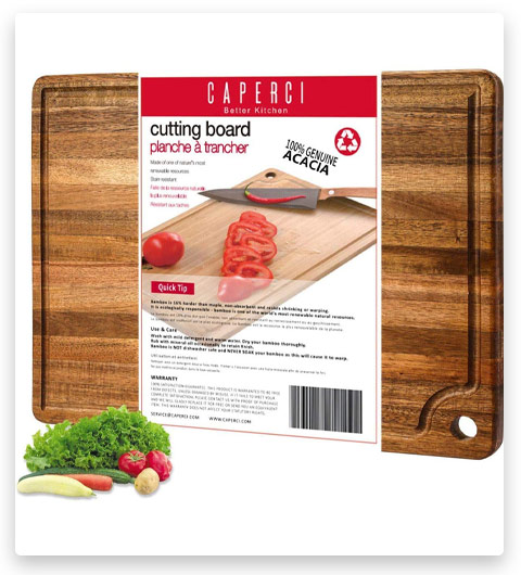 Caperci Large Acacia Wood Cutting Board