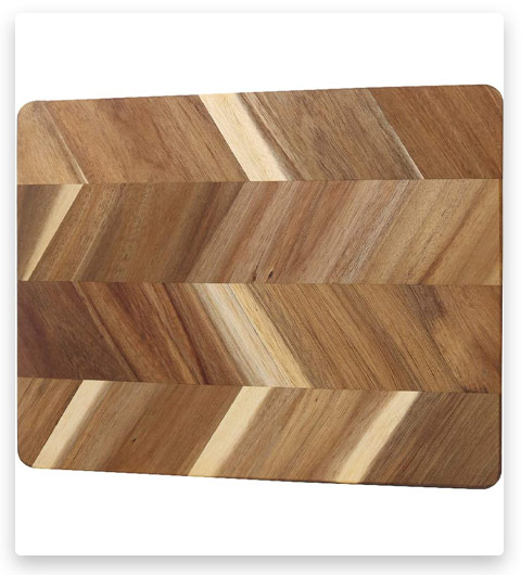HTB Acacia Wood Herringbone Cutting Board
