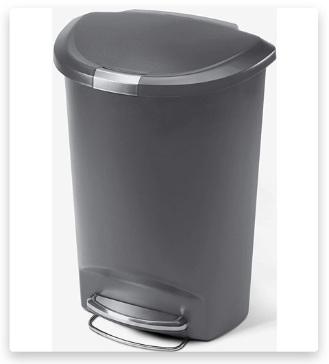 Simplehuman Semi-Round Kitchen Step Trash Can