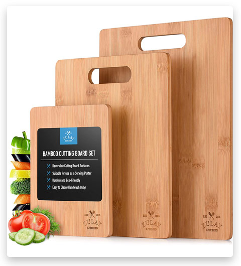 Zulay Bamboo Wooden Cutting Boards